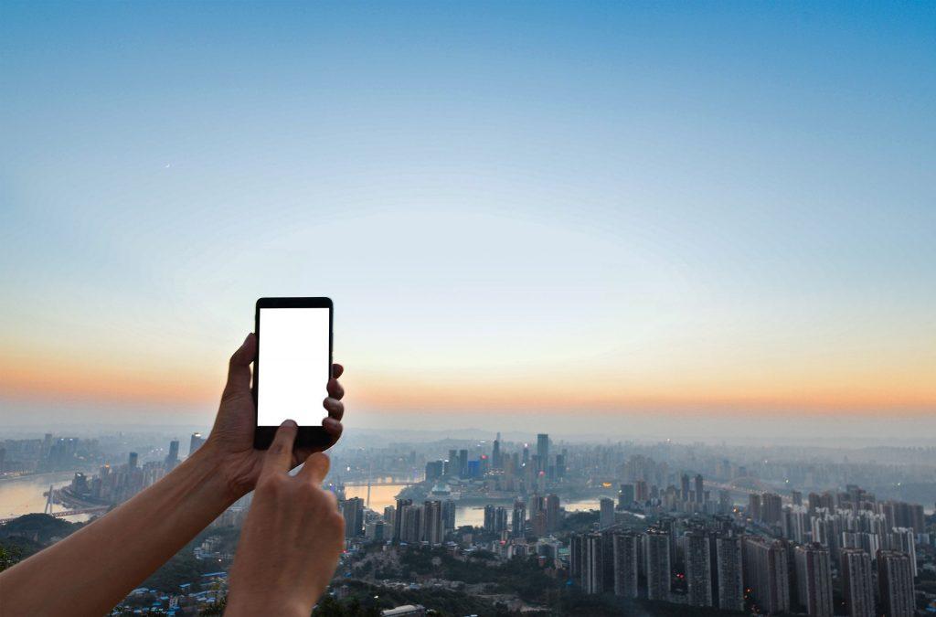 écran de smartphone - publicité digitale