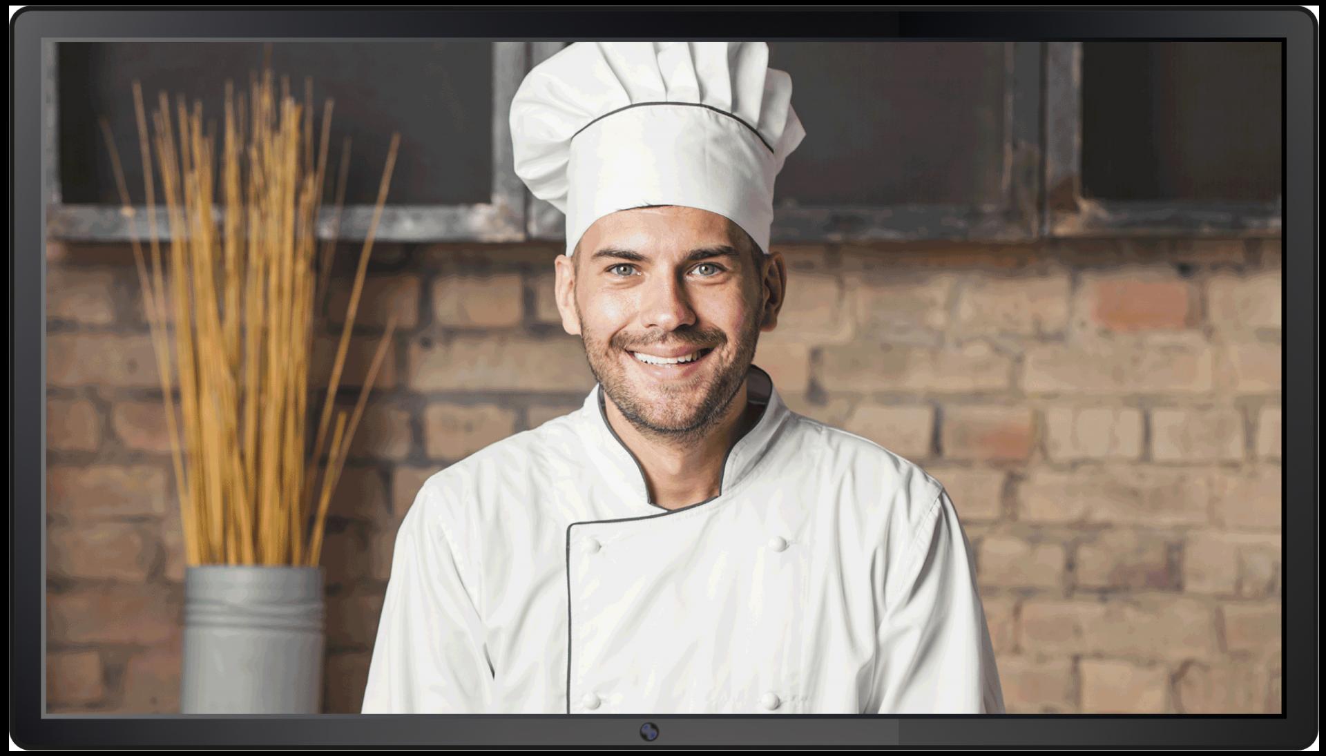 ecran publicitaire boulangerie