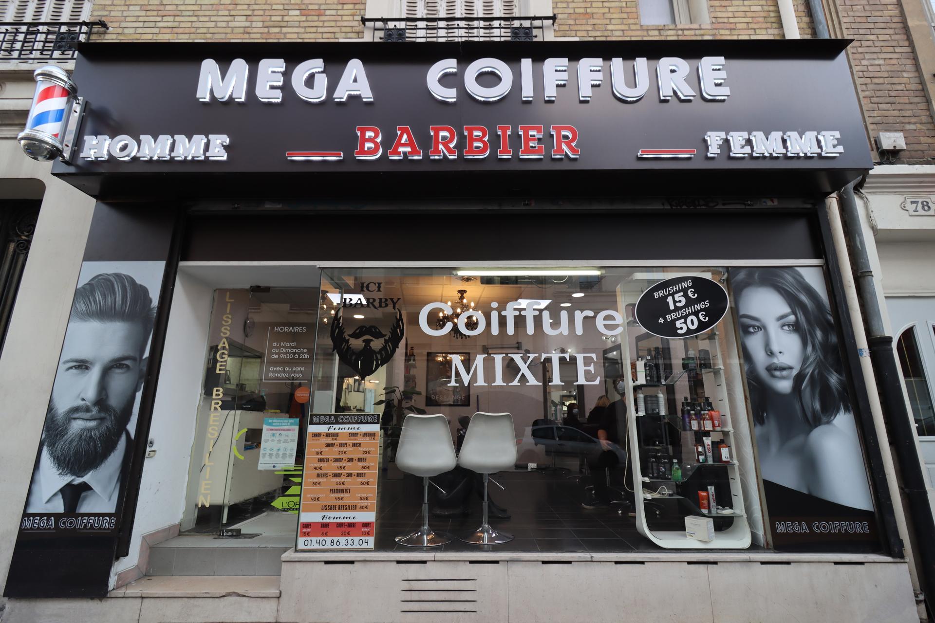 Salon de coiffure Mégacoiffure