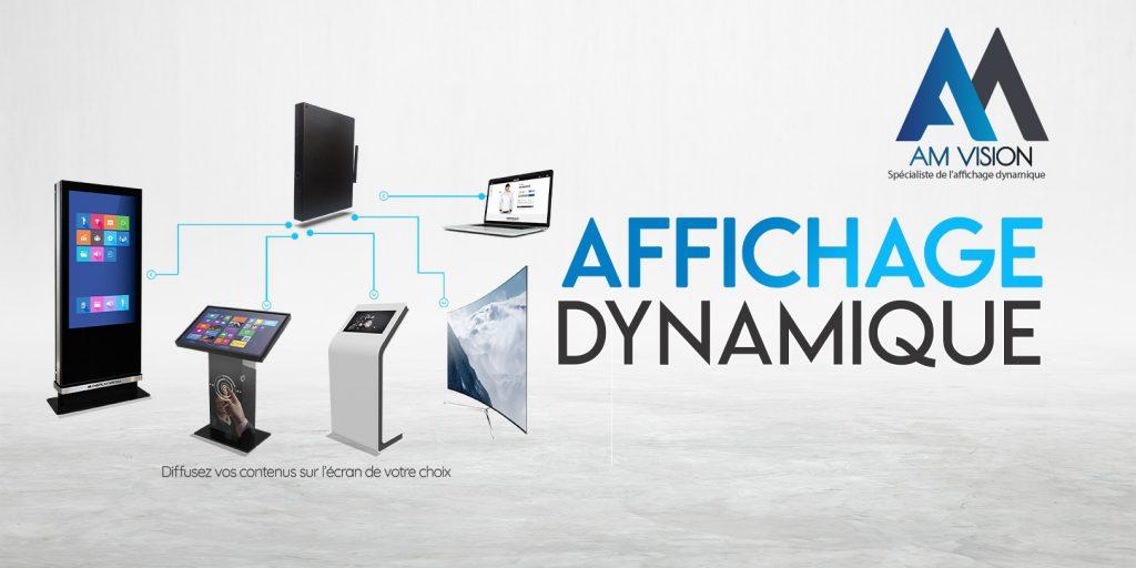 partenariat AD'STORE-AM Vision : installation écrans affichage dynamique